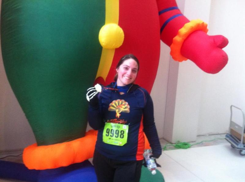 Ran the Turkey Trot (10K) on Thanksgiving